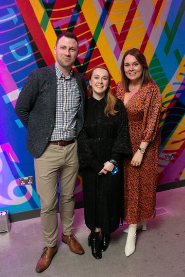 Ronan Keller, Aisling Loughlin and Amber Brown pictured at the launch of the highly anticipated new Gravity Bar at the Guinness Storehouse. Photo by Richie Stokes.