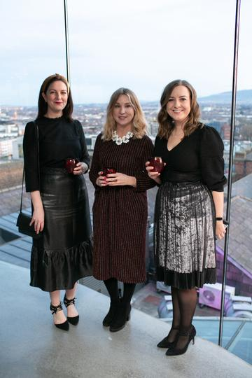 Sarah Doran Aoife Finnegan and Louise Kelly all Guinness Storehouse  pictured at the launch of the highly anticipated new Gravity Bar at the Guinness Storehouse. Photo by Richie Stokes.