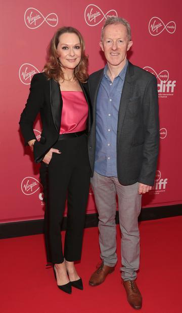 Cathy Belton and Brian Roe at the Virgin Media Dublin International Film Festival Closing Gala screening of Herself at Cineworld, Dublin. Picture: Brian McEvoy.