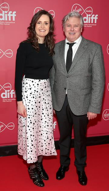 Clare Dunne and Conleth Hill at the Virgin Media Dublin International Film Festival Closing Gala screening of Herself at Cineworld, Dublin. Picture: Brian McEvoy.