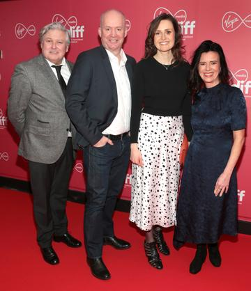 Conleth Hill, Tony Hanway, Clare Dunne and Tara O Rourke  at the Virgin Media Dublin International Film Festival Closing Gala screening of Herself at Cineworld, Dublin. Picture: Brian McEvoy.