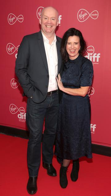Tony Hanway and Tara O Rourke at the Virgin Media Dublin International Film Festival Closing Gala screening of Herself at Cineworld, Dublin. Picture: Brian McEvoy.
