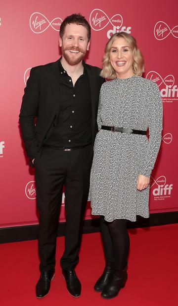 Ian Lloyd Anderson and Kim Lloyd Anderson at the Virgin Media Dublin International Film Festival Closing Gala screening of Herself at Cineworld, Dublin. Picture: Brian McEvoy.