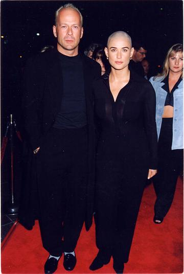 1996: Bruce Willis & Demi Moore  at the premiere of 'If These Walls Could Talk'.  (Photo by Jeff Kravitz/FilmMagic)