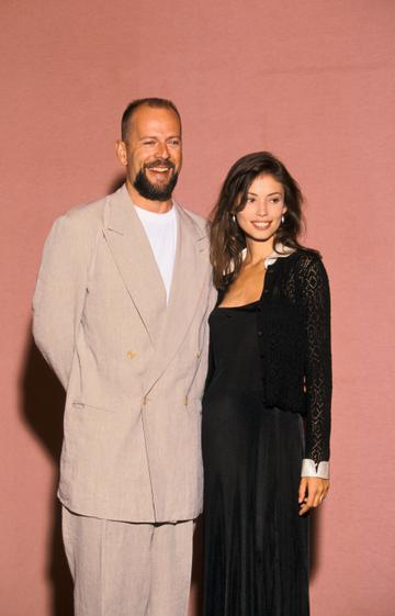 1994: Bruce Willis and Jane March at the Cannes Film Festival 1994.  (Photo by Pool BENAINOUS/DUCLOS/Gamma-Rapho via Getty Images)