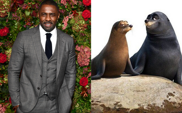 Idris Elba voiced the character of fluke the seal in Finding Dory (2016). Photo by Jeff Spicer via Getty Images/@2016 DIsney All Rights Reserved.