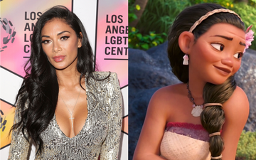 Nicoel Scherzinger voiced the character of Sina in Moana (2016). Photo by Jesse Grant via Getty Images/@2016 Disney All Rights Reserved.