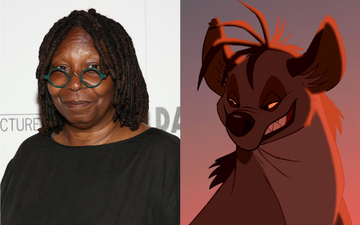 Whoopi Goldberg voiced the character of Shenzi the hyena in The Lion King (1994). Photo by Monica Schipper via Getty Images/@1994 Disney All Rights Reserved.