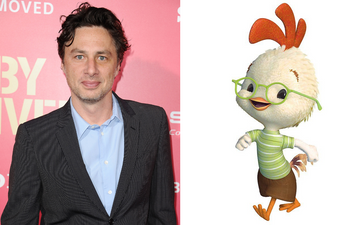 Zach Braff gave his voice to Chicken Little in 2005. Photo by Jason LaVeris via Getty Images/@2005 Disney All Rights Reserved.