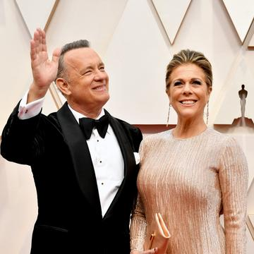 2020: (L-R) Tom Hanks and Rita Wilson attend the 92nd Annual Academy Awards at Hollywood and Highland on February 09, 2020 in Hollywood, California. (Photo by Amy Sussman/Getty Images)