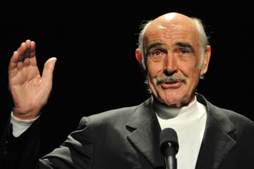 Actor Sean Connery presents during AFI's Night At The Movies presented by Target held at ArcLight Cinemas on October 1, 2008 in Hollywood, California.  (Photo by Frazer Harrison/Getty Images for AFI)