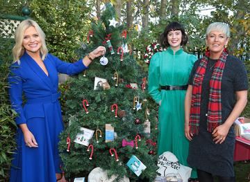 Ireland AM presenter Karen Koster with Martha O'Brien Keogh and Mary Keogh of Mimi and Martha Interiors and Lifestyle pictured as they announced that  Virgin Media'sIreland AM is calling on local Irish businesses to feature in its#BackingLocalcampaign which gives businessesthe opportunity to promote their service or product to the nationin the run up to the festive season   Image credit: Virgin Media