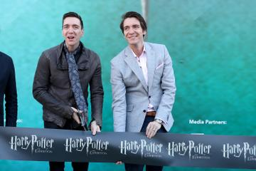 James and Oliver Phelps starred as Ron's brothers, Fred and George Weasley. The twins went on to act both together and sesperately after the Harry Potter films. They host the Normal Not Normal podcast and are set to star in children's fantasy drama sereis '  (Photo by Pedro Fiúza/NurPhoto via Getty Images)