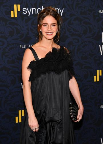 Emma Watson famously starred as Hermione Granger. Most recently, the actress has starred as Belle in Beauty and the Beast (2017( and joined the star studded cast of Greta Gerwig's 'Little Women'.  (Photo by Dia Dipasupil/Getty Images)