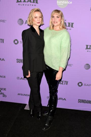 """Carey Mulligan and director Emerald Fennell attend the 2020 Sundance Film Festival - """"Promising Young Woman"""" Premiere at The Marc Theatre on January 25, 2020 in Park City, Utah. (Photo by George Pimentel/Getty Images)"""