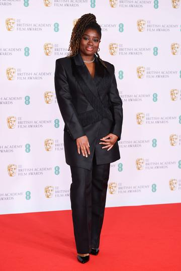 Official EE presenter Clara Amfo  attends the EE British Academy Film Awards 2021 at the Royal Albert Hall on April 11, 2021 in London, England. (Photo by Jeff Spicer/Getty Images)