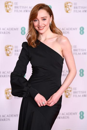 Awards Presenter Phoebe Dynevor attends the EE British Academy Film Awards 2021 at the Royal Albert Hall on April 11, 2021 in London, England. (Photo by Jeff Spicer/Getty Images)