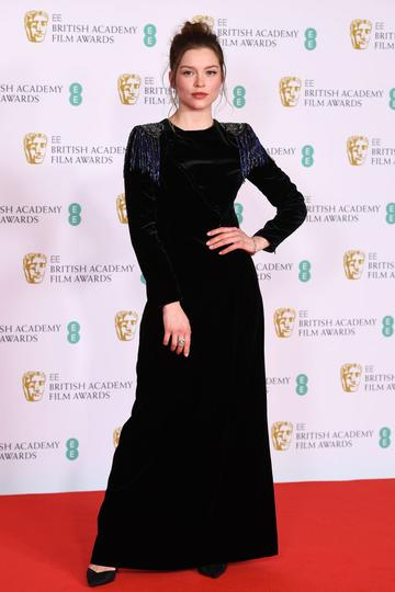 Awards Presenter Sophie Cookson attends the EE British Academy Film Awards 2021 at the Royal Albert Hall on April 11, 2021 in London, England. (Photo by Jeff Spicer/Getty Images)