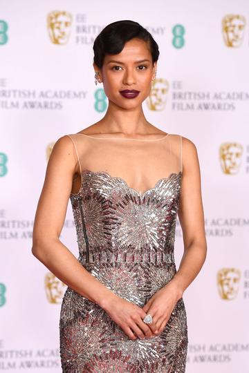 Awards Presenter Gugu Mbatha-Raw attends the EE British Academy Film Awards 2021 at the Royal Albert Hall on April 11, 2021 in London, England. (Photo by Jeff Spicer/Getty Images)