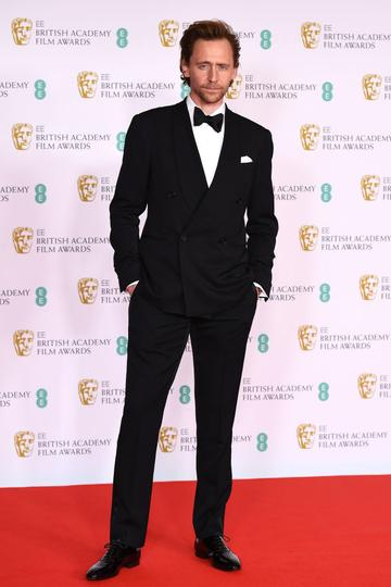 Awards Presenter Tom Hiddleston attends the EE British Academy Film Awards 2021 at the Royal Albert Hall on April 11, 2021 in London, England. (Photo by Jeff Spicer/Getty Images)