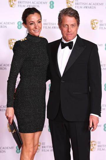 Awards Presenter Hugh Grant and wife Anna Elisabet Eberstein attends the EE British Academy Film Awards 2021 at the Royal Albert Hall on April 11, 2021 in London, England. (Photo by Jeff Spicer/Getty Images)