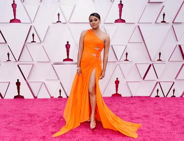 Ariana DeBose attends the 93rd Annual Academy Awards at Union Station on April 25, 2021 in Los Angeles, California. (Photo by Chris Pizzello-Pool/Getty Images)