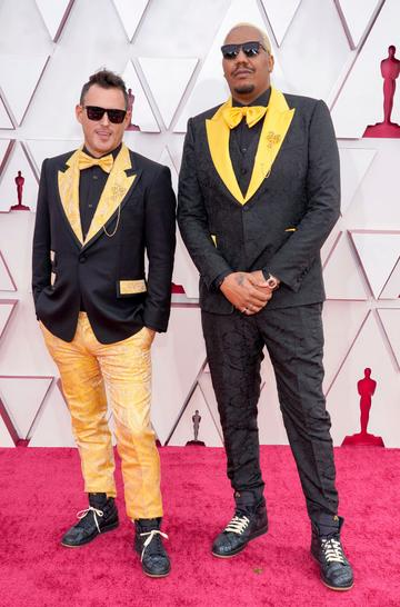 (L-R) Martin Desmond Roe and Travon Free attend the 93rd Annual Academy Awards at Union Station on April 25, 2021 in Los Angeles, California. (Photo by Chris Pizzello-Pool/Getty Images)