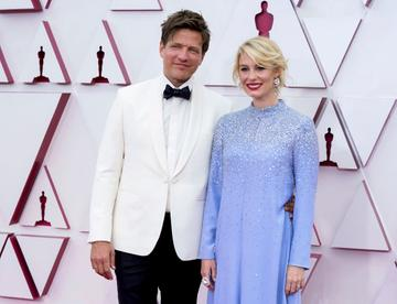 (L-R) Thomas Vinterberg and Helene Reingaard Neumann attend the 93rd Annual Academy Awards at Union Station on April 25, 2021 in Los Angeles, California. (Photo by Chris Pizzello-Pool/Getty Images)