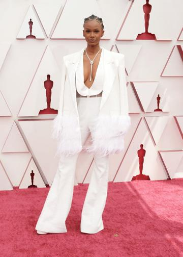 Tiara Thomas attends the 93rd Annual Academy Awards at Union Station on April 25, 2021 in Los Angeles, California. (Photo by Matt Petit /A.M.P.A.S. via Getty Images)