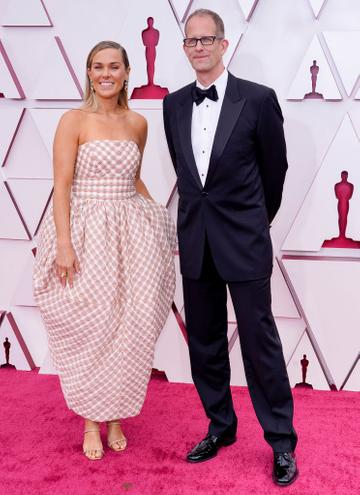 (L-R) Dana Leigh Murray and Pete Docter attend the 93rd Annual Academy Awards at Union Station on April 25, 2021 in Los Angeles, California. (Photo by Chris Pizzello-Pool/Getty Images)