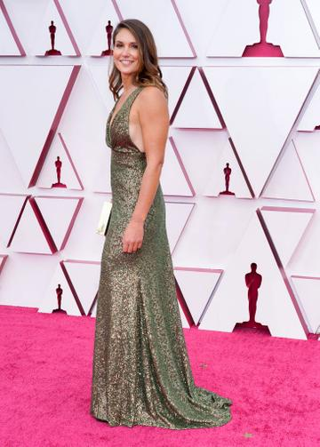 Pippa Ehrlich attends the 93rd Annual Academy Awards at Union Station on April 25, 2021 in Los Angeles, California. (Photo by Chris Pizzello-Pool/Getty Images)