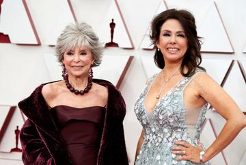 (L-R) Rita Moreno and Fernanda Luisa Gordon attend the 93rd Annual Academy Awards at Union Station on April 25, 2021 in Los Angeles, California. (Photo by Matt Petit/A.M.P.A.S. via Getty Images)