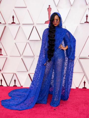 H.E.R. attends the 93rd Annual Academy Awards at Union Station on April 25, 2021 in Los Angeles, California. (Photo by Matt Petit/A.M.P.A.S. via Getty Images)