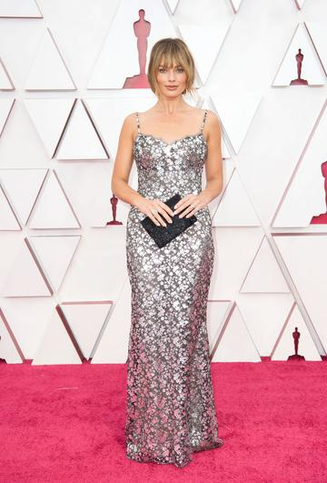 Margot Robbie attends the 93rd Annual Academy Awards at Union Station on April 25, 2021 in Los Angeles, California. (Photo by Matt Petit/A.M.P.A.S. via Getty Images)