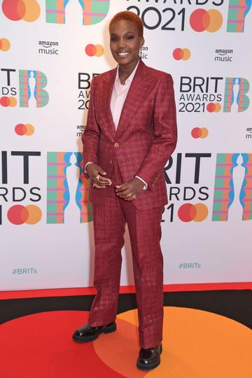Arlo Parks arrives at The BRIT Awards 2021 at The O2 Arena on May 11, 2021 in London, England.  (Photo by David M. Benett/Dave Benett/Getty Images)
