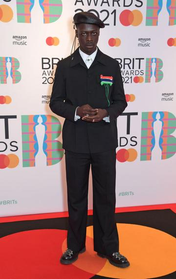 Pa Salieu arrives at The BRIT Awards 2021 at The O2 Arena on May 11, 2021 in London, England.  (Photo by David M. Benett/Dave Benett/Getty Images)