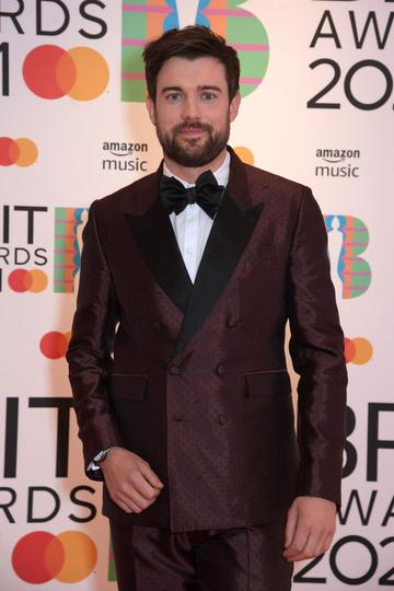 Jack Whitehall arrives at The BRIT Awards 2021 at The O2 Arena on May 11, 2021 in London, England.  (Photo by David M. Benett/Dave Benett/Getty Images)
