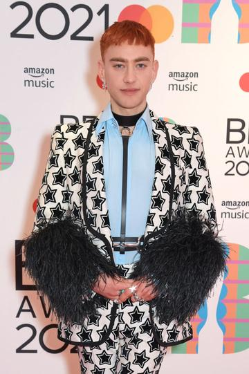 Olly Alexander arrives at The BRIT Awards 2021 at The O2 Arena on May 11, 2021 in London, England.  (Photo by David M. Benett/Dave Benett/Getty Images)