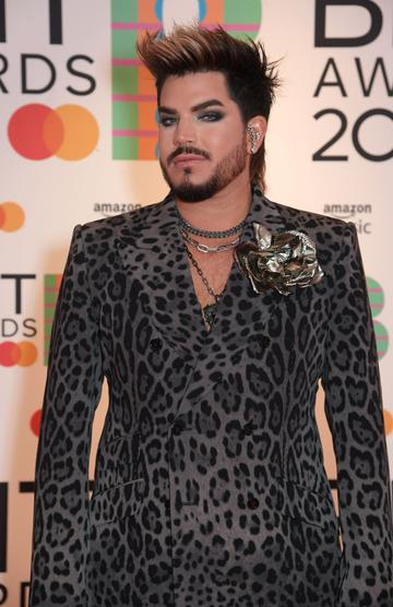 Adam Lambert arrives at The BRIT Awards 2021 at The O2 Arena on May 11, 2021 in London, England.  (Photo by David M. Benett/Dave Benett/Getty Images)