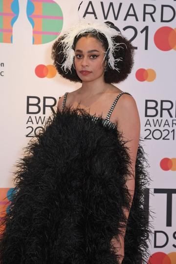 Celeste arrives at The BRIT Awards 2021 at The O2 Arena on May 11, 2021 in London, England.  (Photo by David M. Benett/Dave Benett/Getty Images)