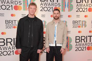 Matt McBriar and Andy Ferguson of Bicep arrive at The BRIT Awards 2021 at The O2 Arena on May 11, 2021 in London, England.  (Photo by David M. Benett/Dave Benett/Getty Images)