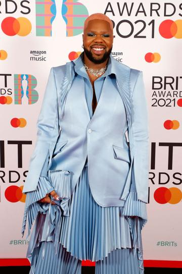 MNEK attends The BRIT Awards 2021 at The O2 Arena on May 11, 2021 in London, England. (Photo by JMEnternational/JMEnternational for BRIT Awards/Getty Images)