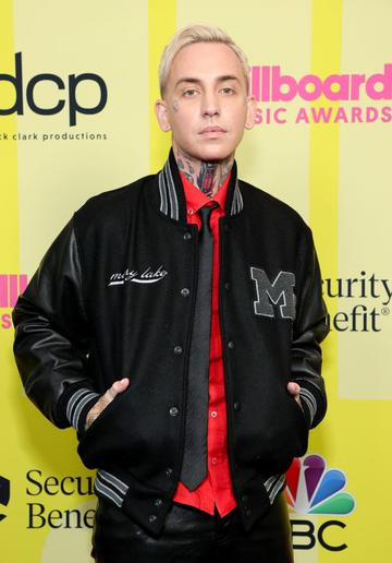 blackbear poses backstage for the 2021 Billboard Music Awards, broadcast on May 23, 2021 at Microsoft Theater in Los Angeles, California. (Photo by Rich Fury/Getty Images for dcp)