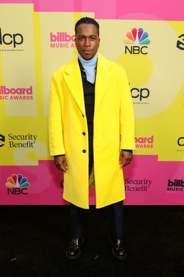 Leslie Odom Jr. poses backstage for the 2021 Billboard Music Awards, broadcast on May 23, 2021 at Microsoft Theater in Los Angeles, California. (Photo by Rich Fury/Getty Images for dcp)