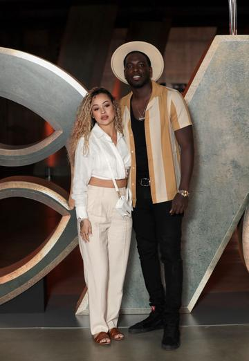 Rebecca Vieira and Marcel Somerville attend the Special Screening of Marvel Studios' series LOKI on June 08, 2021 in London, England. LOKI will stream exclusively on Disney+ from Wednesday June 9, with new episodes every Wednesday. (Photo by John Phillips/Getty Images for Walt Disney Studios Motion Pictures UK)
