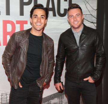 Jake Carter and Nathan Carter pictured  at the 'A Quiet Place Part II 'screening at the Odeon Cinema in Point Square ,Dublin. Picture  Brian McEvoy/ PIP