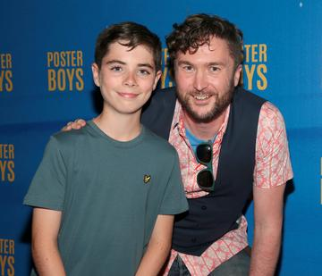 Lead Actor Ryan Minogue-Lee and Director Dave Minogue pictured at the gala preview screening of Poster Boys at Omniplex , Rathmines,Dublin.   Picture PIP