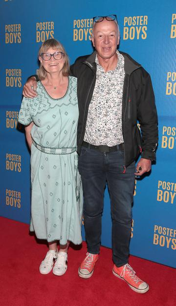 Bobby Kerr and his  wife Mary pictured at the gala preview screening of Poster Boys at Omniplex , Rathmines,Dublin.  Picture PIP