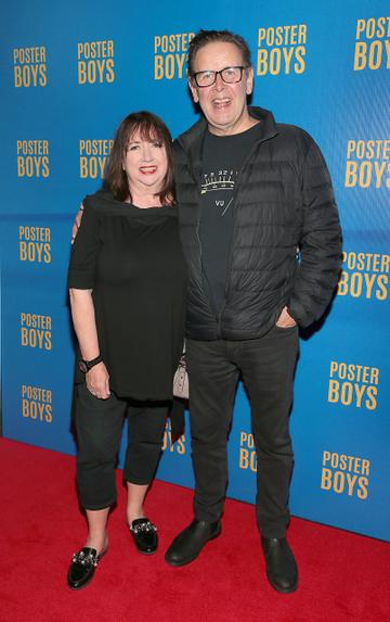 Ian Dempsey and his wife Ger pictured at the gala preview screening of Poster Boys at Omniplex , Rathmines,Dublin.  Picture PIP