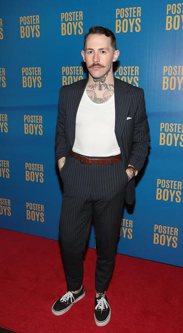 Damien Broderick  pictured at the gala preview screening of Poster Boys at Omniplex , Rathmines,Dublin.  Picture PIP